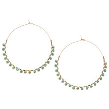 Buy Orelia Wrapped Bead Hoop Earrings, Green Online at johnlewis.com