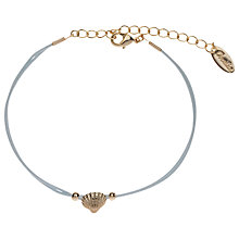 Buy Orelia Shell Friendship Bracelet, Blue Online at johnlewis.com