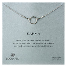 Buy Dogeared Original Karma Sterling Silver Necklace, Silver Online at johnlewis.com