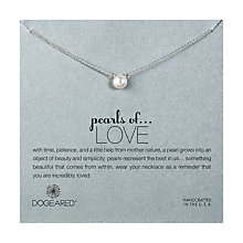 Buy Dogeared Sterling Silver Pearls of Love Necklace, Silver Online at johnlewis.com