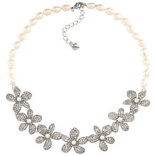 Buy Carolee Pearl Floral Necklace, Silver/White Online at johnlewis.com