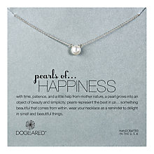 Buy Dogeared Sterling Silver Pearls of Happiness Necklace, Silver Online at johnlewis.com