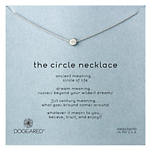 Buy Dogeared Sterling Silver The Circle Necklace, Silver Online at johnlewis.com