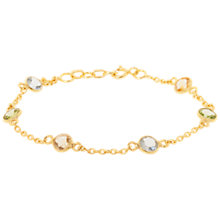 Buy Pomegranate Vermeil Station Sterling Silver Bracelet, Multi Online at johnlewis.com