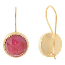 Buy Pomegranate Vermeil Large Cupcake Drop Earrings, Red/Gold Online at johnlewis.com