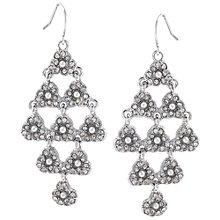 Buy Carolee Paved Kite Chandelier Earrings, Silver/White Online at johnlewis.com