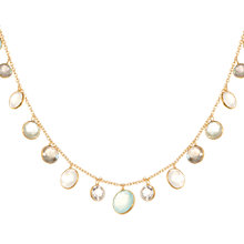 Buy Pomegranate Sterling Silver Multi Gemstone Necklace, Multi Online at johnlewis.com