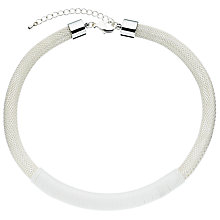 Buy John Lewis Wrapped Rope Mesh Necklace, White/Silver Online at johnlewis.com