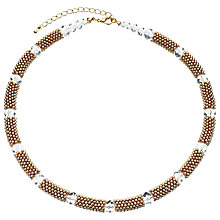 Buy John Lewis Effervescent Crystal Necklace, Gold Online at johnlewis.com