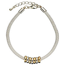 Buy John Lewis Mini Circles Mesh Bracelet, Silver Online at johnlewis.com