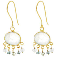 Buy Pomegranate Beaded Drop Earrings, Gold/Blue Online at johnlewis.com