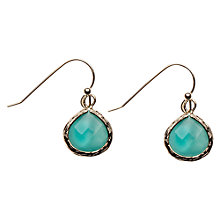 Buy Orelia Pretty Stone Drop Earrings, Turquoise Online at johnlewis.com