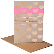 Buy Orelia Neon Stripe Heart Postcard & Bracelet Set Online at johnlewis.com