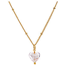 Buy Martick Murano Glass Gold Plated Heart Necklace Online at johnlewis.com
