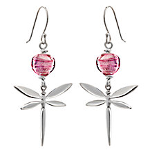 Buy Martick Murano Glass Dragonfly Drop Earrings Online at johnlewis.com