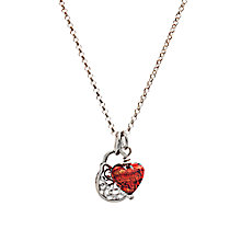 Buy Martick Ornate Padlock and Heart Pendant Necklace, Cranberry Online at johnlewis.com