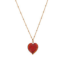 Buy Martick Murano Glass Gold Plated Heart Necklace, Cherry Online at johnlewis.com
