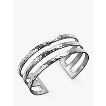 Buy Dower & Hall Sterling Silver Triple Cuff, Silver, 25mm Online at johnlewis.com