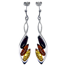 Buy Goldmajor Sterling Silver Amber Drop Earrings, Silver/Amber Online at johnlewis.com