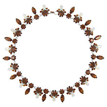 Buy Eclectica Vintage 1950s Rhinestone Necklace, Brown Online at johnlewis.com