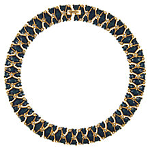 Buy Eclectica Vintage 1980s Gold Plated Swarovski Crystal Necklace, Blue Online at johnlewis.com