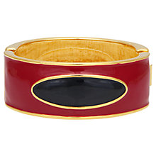 Buy Eclectica Vintage 1980s Monet Gold Plated Enamel Bangle, Red/Navy Online at johnlewis.com