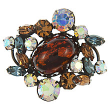 Buy Eclectica Vintage 1950s Swarovski Rhinestone Brooch, Grey Online at johnlewis.com
