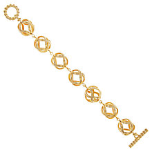Buy Eclectica Vintage 1980s Gold Plated Christian Dior Toggle Bracelet, Gold Online at johnlewis.com