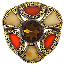 Buy Eclectica Vintage 1970s Miracle Gold Plated Faux Agate Brooch, Brown Online at johnlewis.com