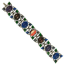 Buy Eclectica Vintage 1960s Silver Plated Cabochon Celtic Bracelet, Multi Online at johnlewis.com