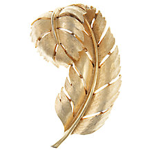 Buy Eclectica Vintage 1950s Trifari Gold Plated Leaf Brooch, Gold Online at johnlewis.com