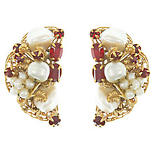 Buy Eclectica Vintage 1950s Robert Gold Plated Faux Pearl Clip-On Earrings, Gold Online at johnlewis.com