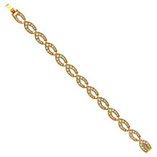 Buy Eclectica Vintage 1980s Attwood & Sawyer Gold Plated Swarovski Crystal Bracelet, Gold Online at johnlewis.com