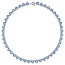 Buy Eclectica Vintage 1930s Chrome Plated Faceted Glass Necklace, Blue Online at johnlewis.com