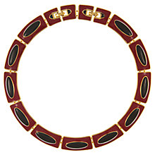 Buy Eclectica Vintage 1980s Monet Gold Plated Enamel Necklace, Red/Navy Online at johnlewis.com