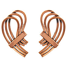 Buy Eclectica Vintage 1960s Renior Copper Abstract Earrings, Copper Online at johnlewis.com