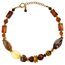 Buy Eclectica Vintage 1980s Venetian Glass Necklace, Brown Online at johnlewis.com