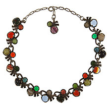Buy Eclectica Vintage 1960s Miracle Faux Agate Necklace, Multi Online at johnlewis.com