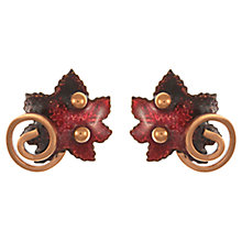 Buy Eclectica Vintage 1950s Renior Copper Enamel Maple Leaf Earrings, Red Online at johnlewis.com