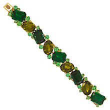 Buy Eclectica Vintage 1950s Gold Plated Glass Stone Bracelet, Green Online at johnlewis.com