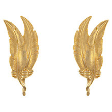 Buy Eclectica Vintage 1950s Monet Gold Plated Leaf Earrings Online at johnlewis.com