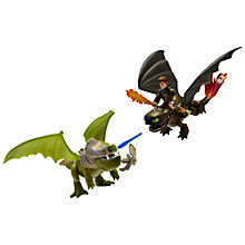 Buy DreamWorks Dragons Toothless & Hiccup Vs. Armoured Dragon Action Figures Online at johnlewis.com