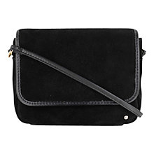 Buy Tula Small Suede Leather Smooth Originals Across Body Bag, Black Online at johnlewis.com