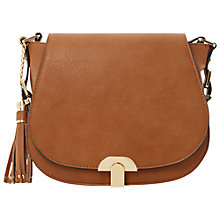 Buy Dune Dashes Tassel Saddle Across Body Bag Online at johnlewis.com
