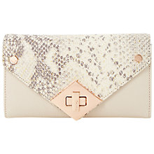 Buy Dune Kelly Fold Over Diamondl Turnlock Purse, Reptile Online at johnlewis.com