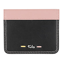 Buy Tula Violet Leather Card Holder Black Online at johnlewis.com