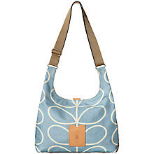 Buy Orla Kiely Etc Giant Linear Stem Midi Shoulder Bag, Sky Blue Online at johnlewis.com