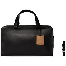 Buy Calvin Klein Bea Snake Leather Duffle Bag, Black Online at johnlewis.com