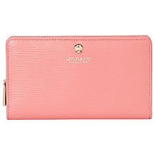Buy Modalu Leather Austen Zip Purse, Geranium Pink Online at johnlewis.com