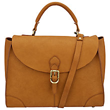 Buy John Lewis Top Handle Large Leather Grab Bag, Tan Online at johnlewis.com